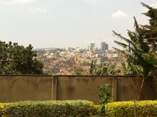 Kigali, center of town, as seen from Gisozi.