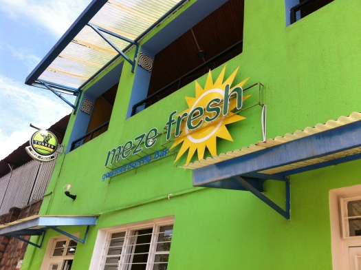 Meze Fresh. Sure to be my new lunch spot. The Chipotle, Freebird and Qdoba of Rwanda and around the corner of my house.