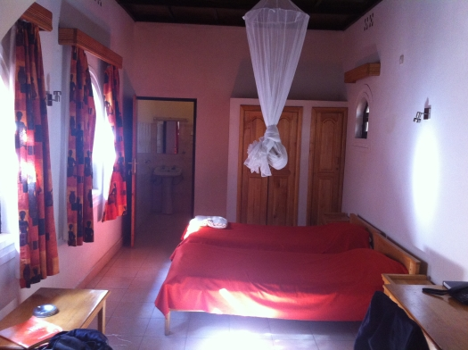 My Hotel Room at Hotel Ibis in Huye, Butare. Not bad.