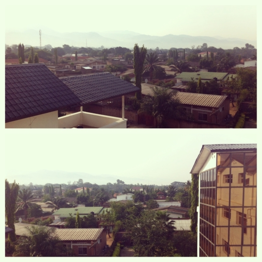View from my hotel in Bujumbura. What you don't see is how hot it was, even at 7 in the morning.