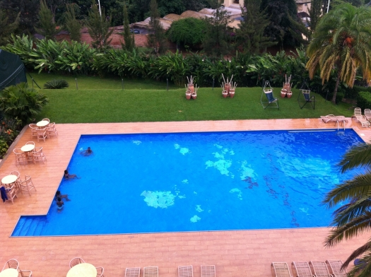 The most famous pool in Kigali. Being here always has a surreal feeling.
