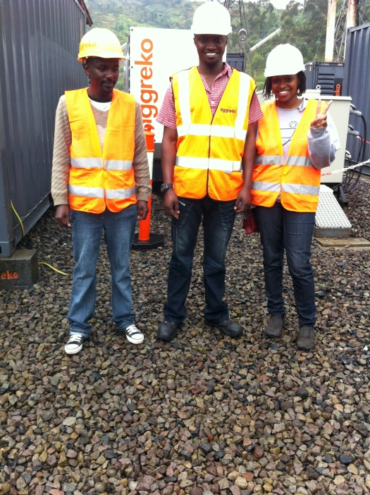The random places I often find myself. Had a personal tour of the Aggreko power plant in Ruhengeri, thanks to my uncle Anselme (middle) and accompanied by my cousin, Callixte.
