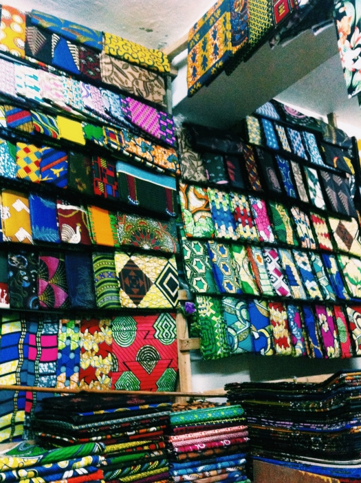 "Fabric heaven, called ""ibitenge"", sold in Rwanda but mainly from the Congo. I will be adding at least one ibitenge outfit to my closet once a month."