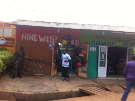Walking through Nyamirambo is a good way to spend a day in Kigali. There is so much life, so many different shops and I just love the signage. Nine West anyone?