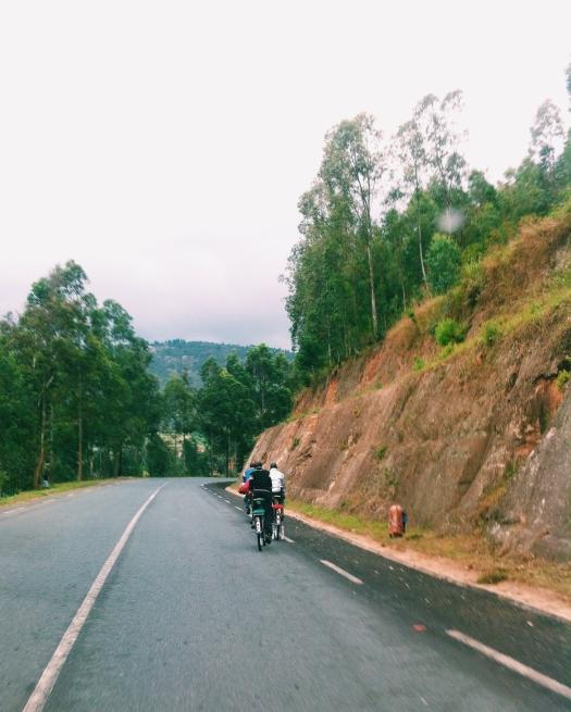 Early morning ride. Kigali to Ngororero.